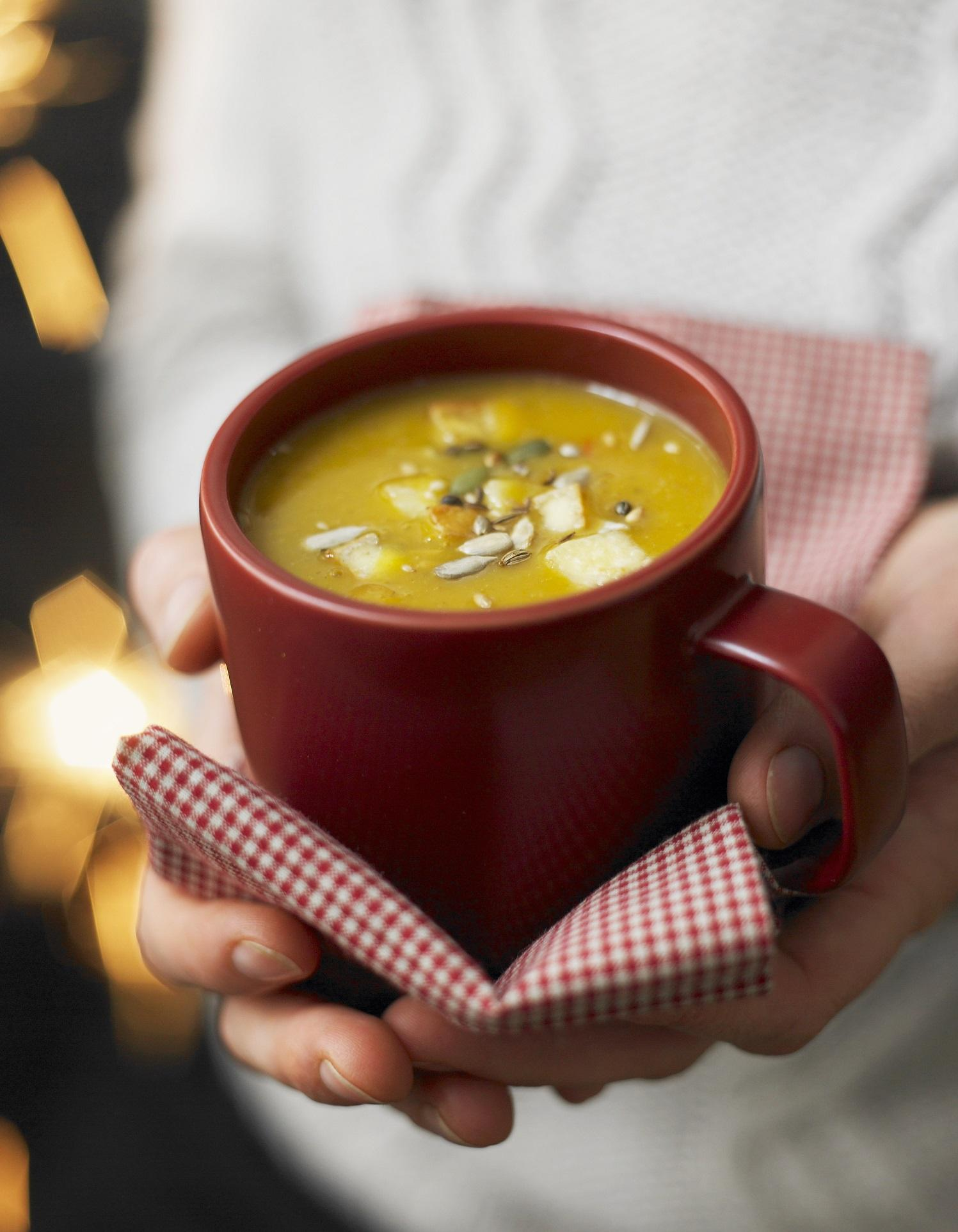 soupe butternut pic e au citron pour 2 personnes. Black Bedroom Furniture Sets. Home Design Ideas