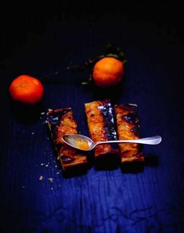 tarte amande orange pamplemousse et cl mentine pour 6 personnes recettes elle table. Black Bedroom Furniture Sets. Home Design Ideas