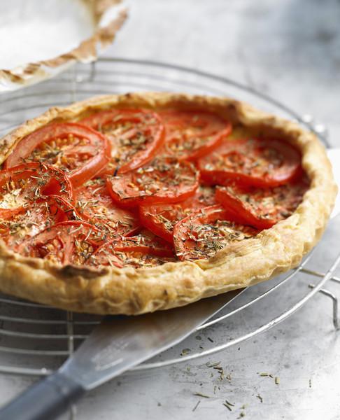Tarte l g re thon et tomates recettes elle table - Cuisine legere thermomix ...