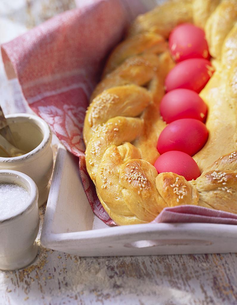 Tsoureki pain sucr de p ques pour 4 personnes - Pain de sucre legume ...