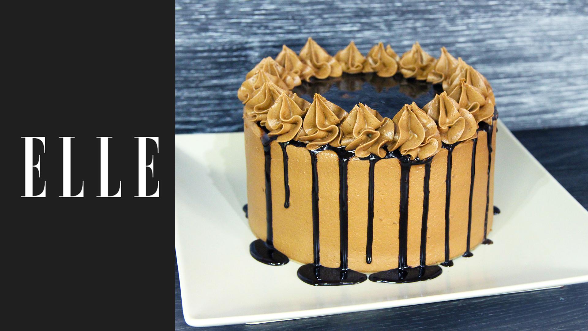 recette layer cake au chocolat avec l atelier de roxane elle vid os. Black Bedroom Furniture Sets. Home Design Ideas
