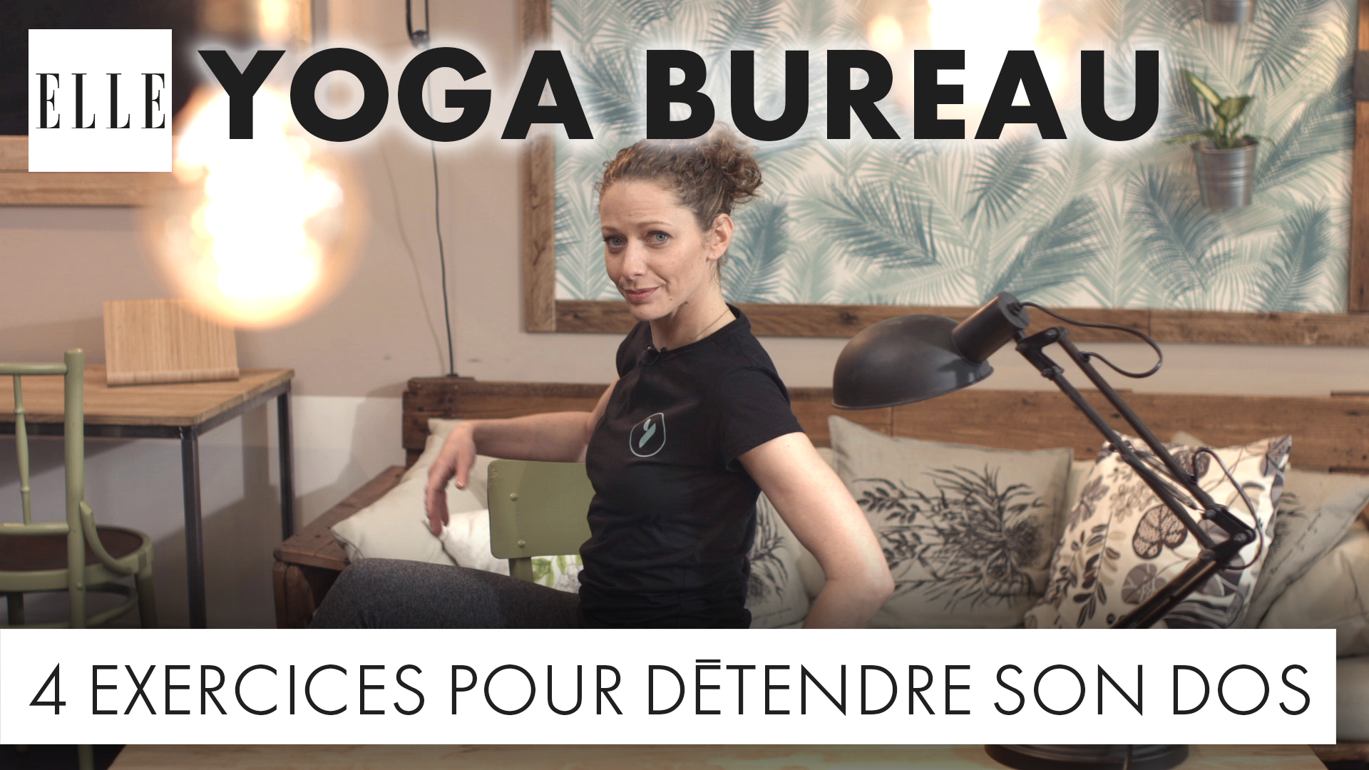 yoga au bureau 4 exercices pour le mal de dos elle vid os. Black Bedroom Furniture Sets. Home Design Ideas