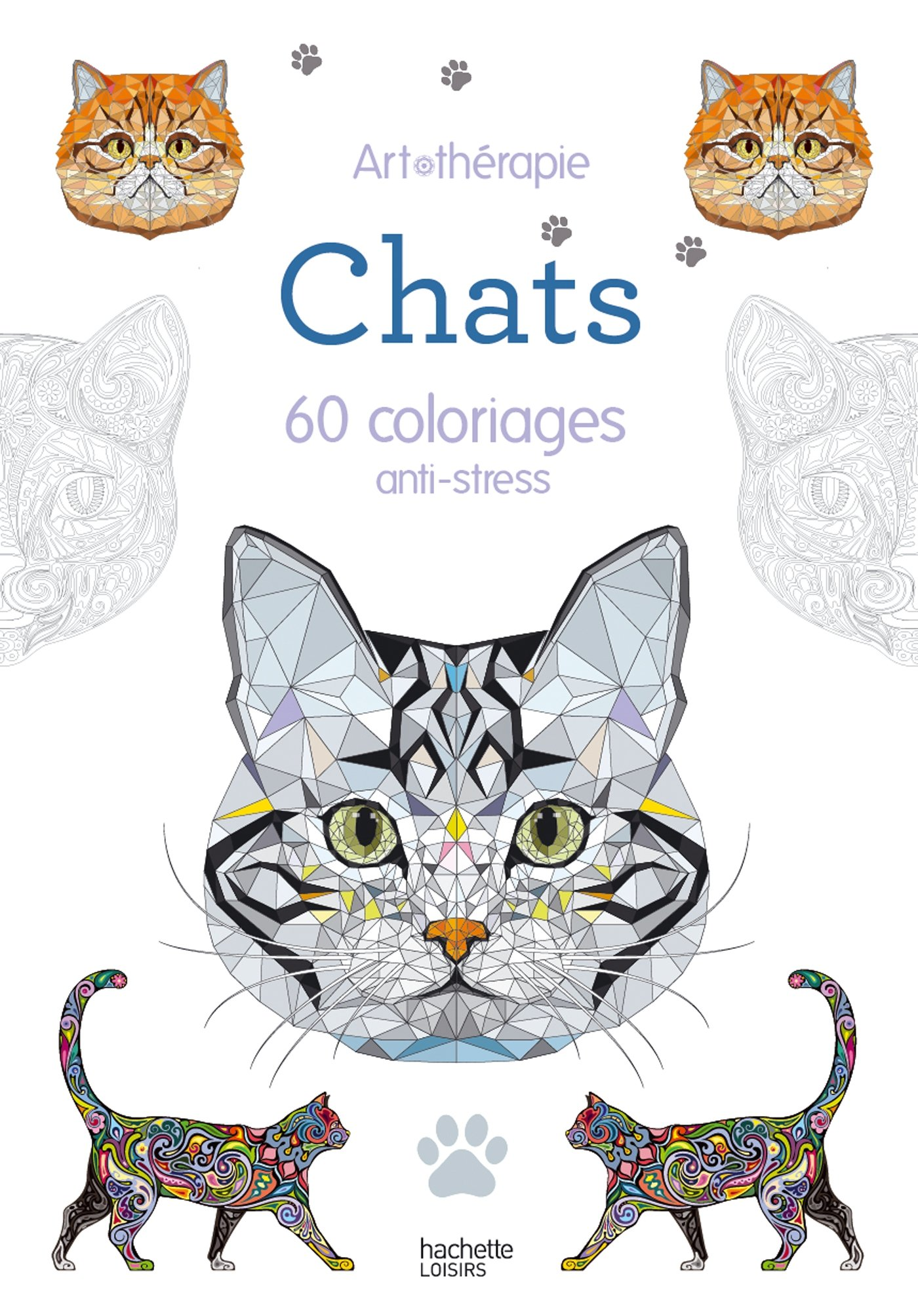 Chats 60 coloriages anti stress livres de - Dessin anti stress ...