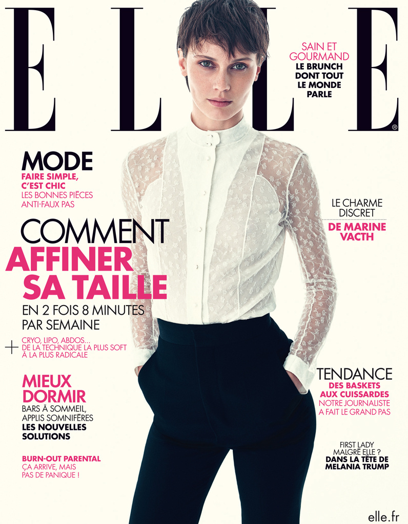 marine vacth en couverture de elle cette semaine elle. Black Bedroom Furniture Sets. Home Design Ideas