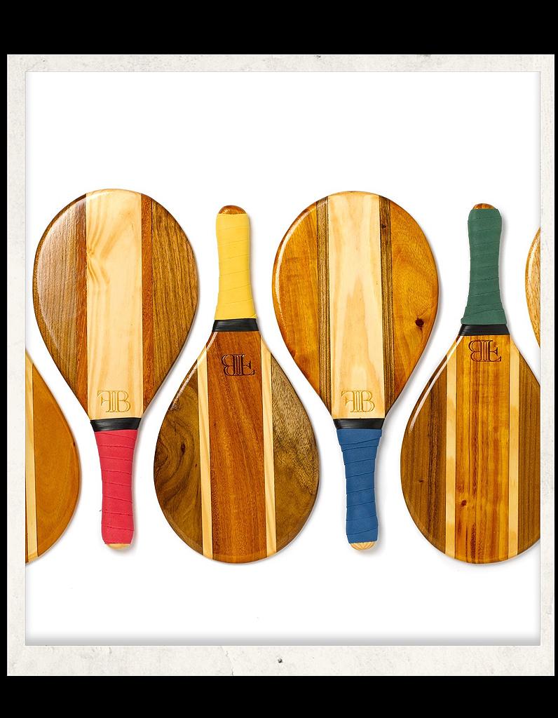 frescobol raquettes en bois 45 id es pour faire venir l 39 t elle. Black Bedroom Furniture Sets. Home Design Ideas