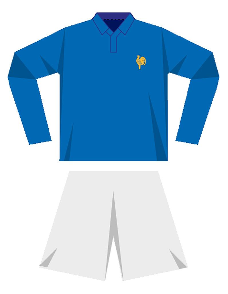 Le maillot de l quipe de france de football en 1958 coupe du monde de football le maillot - Maillot equipe de france coupe du monde 2014 ...