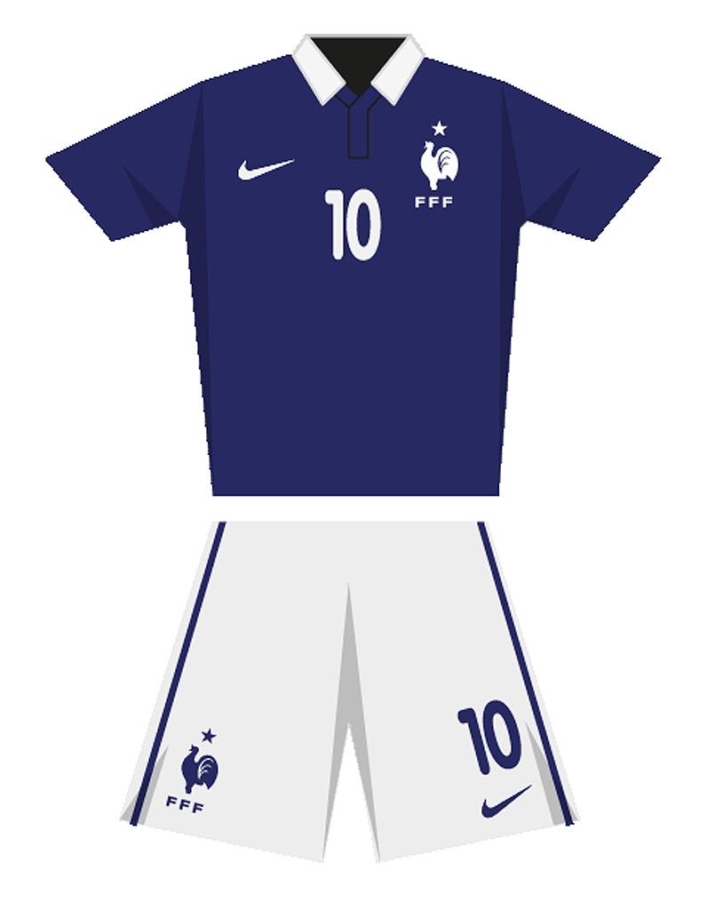 Le maillot de l quipe de france de football en 2014 coupe du monde de football le maillot - Maillot equipe de france coupe du monde 2014 ...