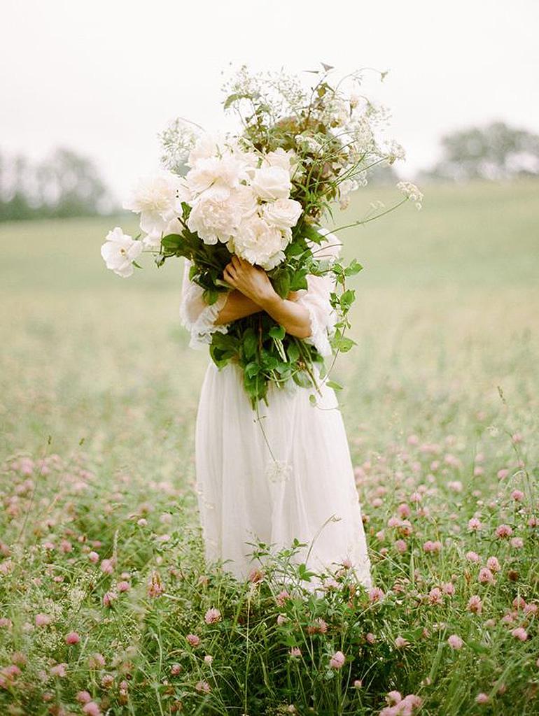 Exceptionnel Bouquet de fleurs blanches printanières - 25 bouquets de fleurs  WV67