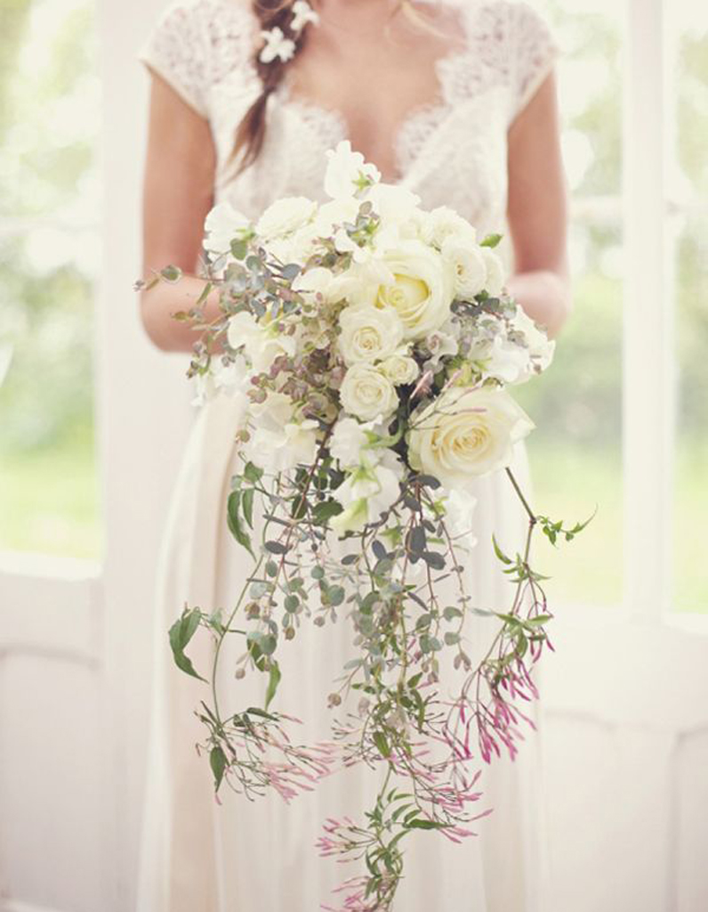 Bouquet de mari e tombant 20 beaux bouquets de mari e pour gayer votre robe elle - Prix bouquet de mariee ...