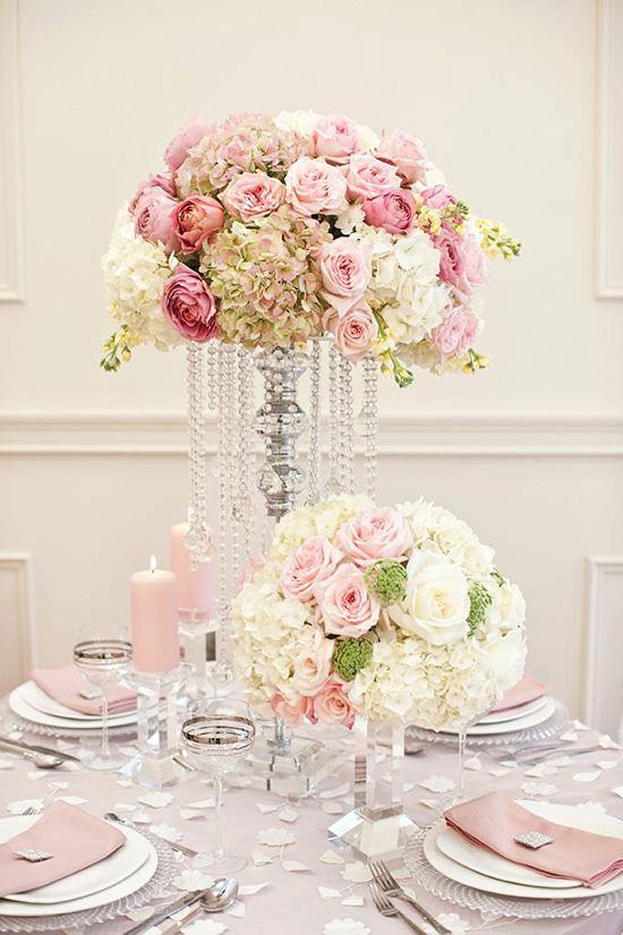 Composition florale avec des roses nos 20 id es de for Composition florale de table