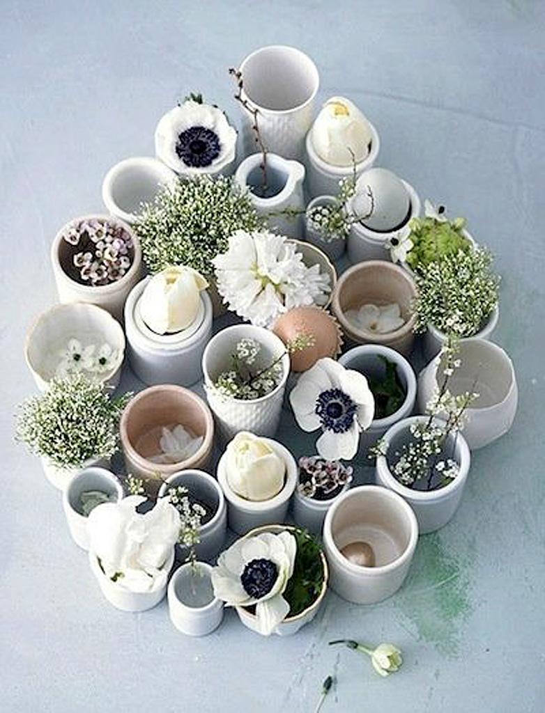 Composition florale en pot nos 20 id es de compositions for Composition florale