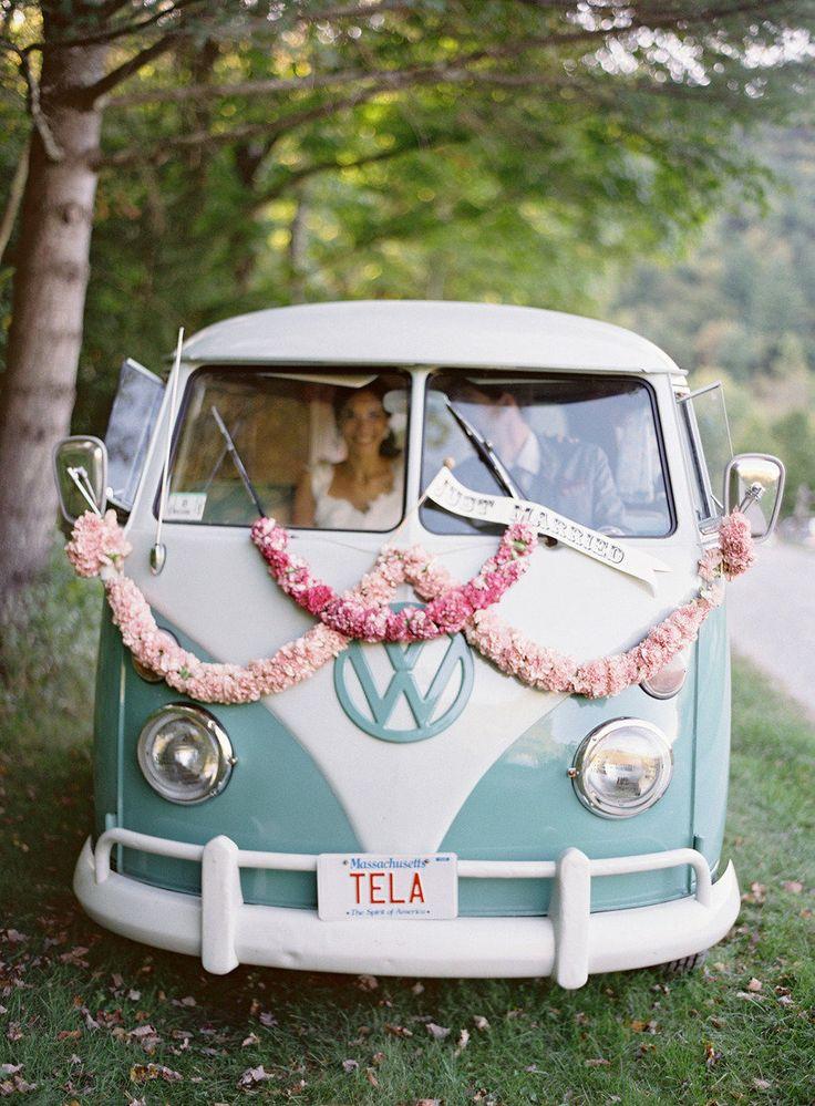 Extrêmement Décoration voiture mariage retro - 10 jolies façons de décorer sa  EJ47