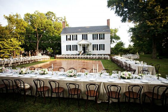 Backup Plans For Your Outdoor Wedding: Dispositions De Tables Royale