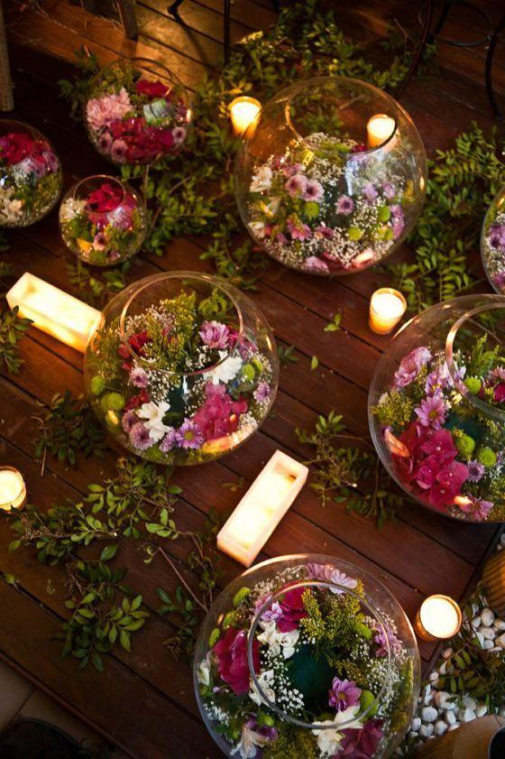 Mariage champ tre et d coration florale et si on for Composition florale exterieur hiver