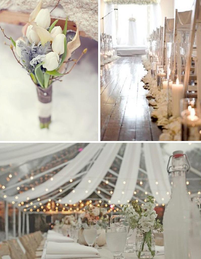 Mariage hiver d coration le mariage d hiver et si c tait la meilleure saison elle - Decoration de mariage feerique ...