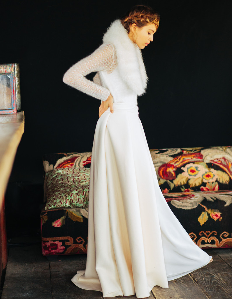 Robe de mariée d\u0027hiver fourrure