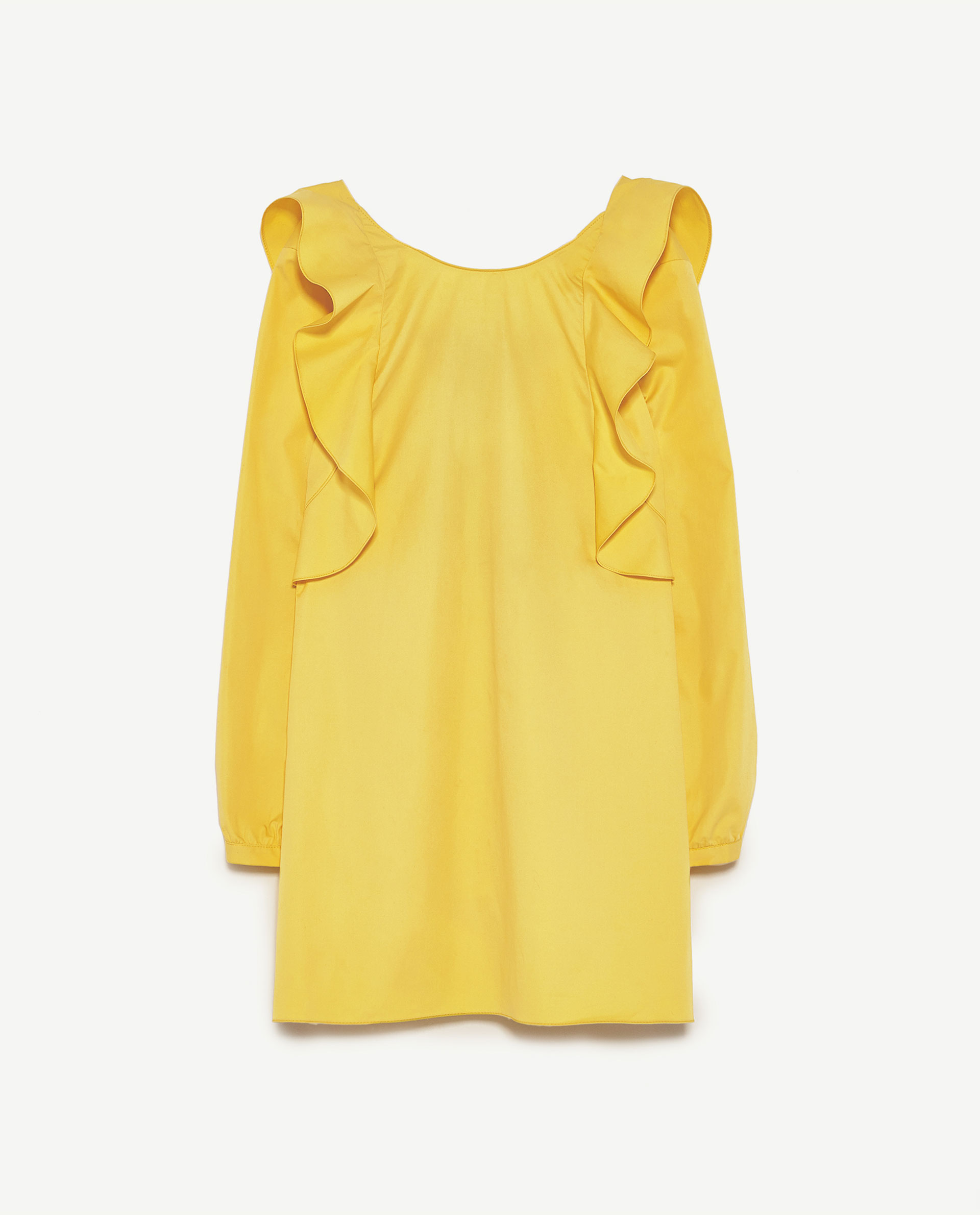 robe t moin de mariage jaune zara 20 robes de t moin de mariage qui font de l 39 ombre la. Black Bedroom Furniture Sets. Home Design Ideas