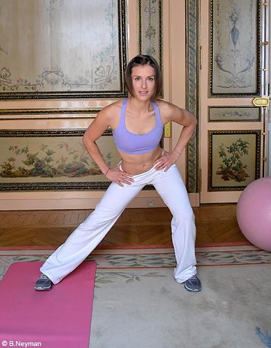 minceur sport exercices coach julie ferrez affiner jambes exo 1 5 on affine ses jambes avec la. Black Bedroom Furniture Sets. Home Design Ideas