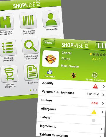 shopwise lance son application minceur elle. Black Bedroom Furniture Sets. Home Design Ideas