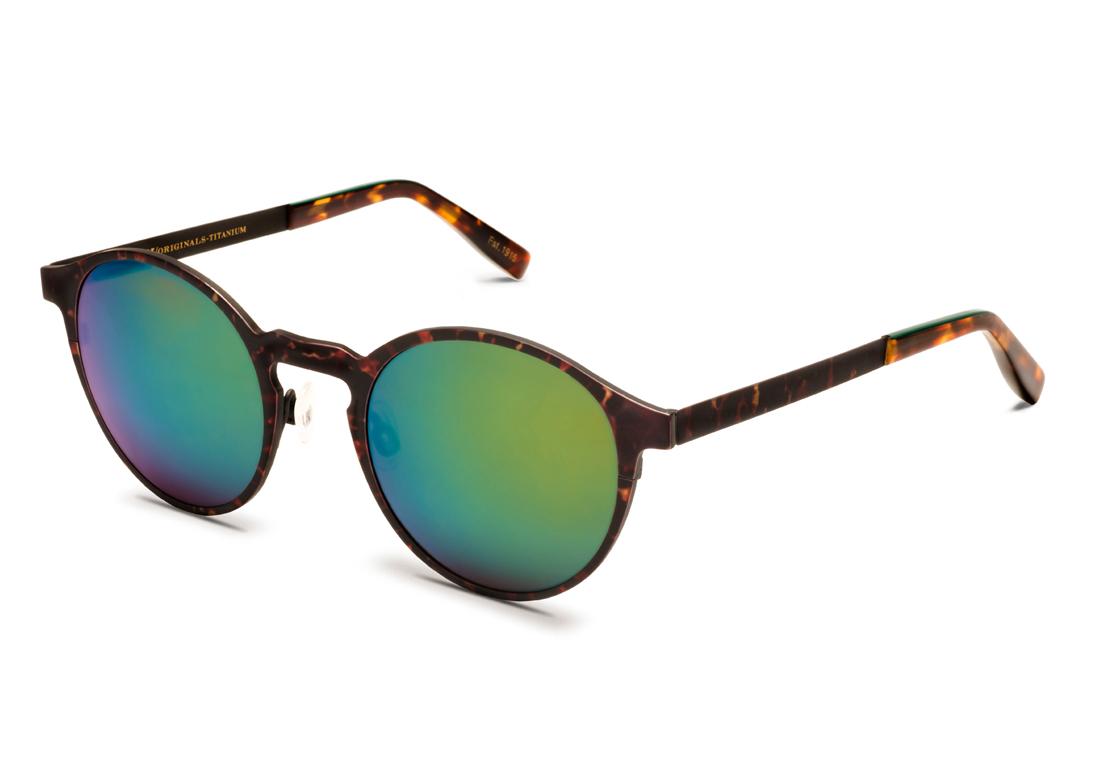 Lunettes de soleil miroir avec monture mouchet e moscot - Miroir en forme de lunette ...