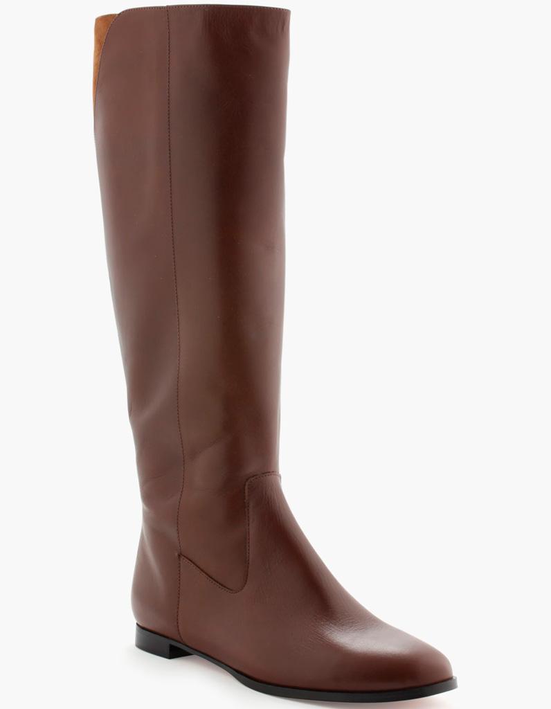 bottes cavali res en cuir marron french manucure nos 20 plus belles paires de bottes. Black Bedroom Furniture Sets. Home Design Ideas