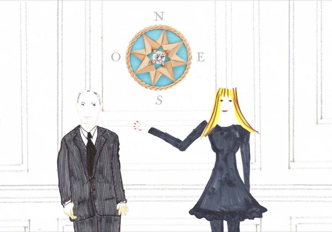 Exclu vidéo  la nouvelle collection de petite joaillerie Dior « Rose des  Vents » , Elle