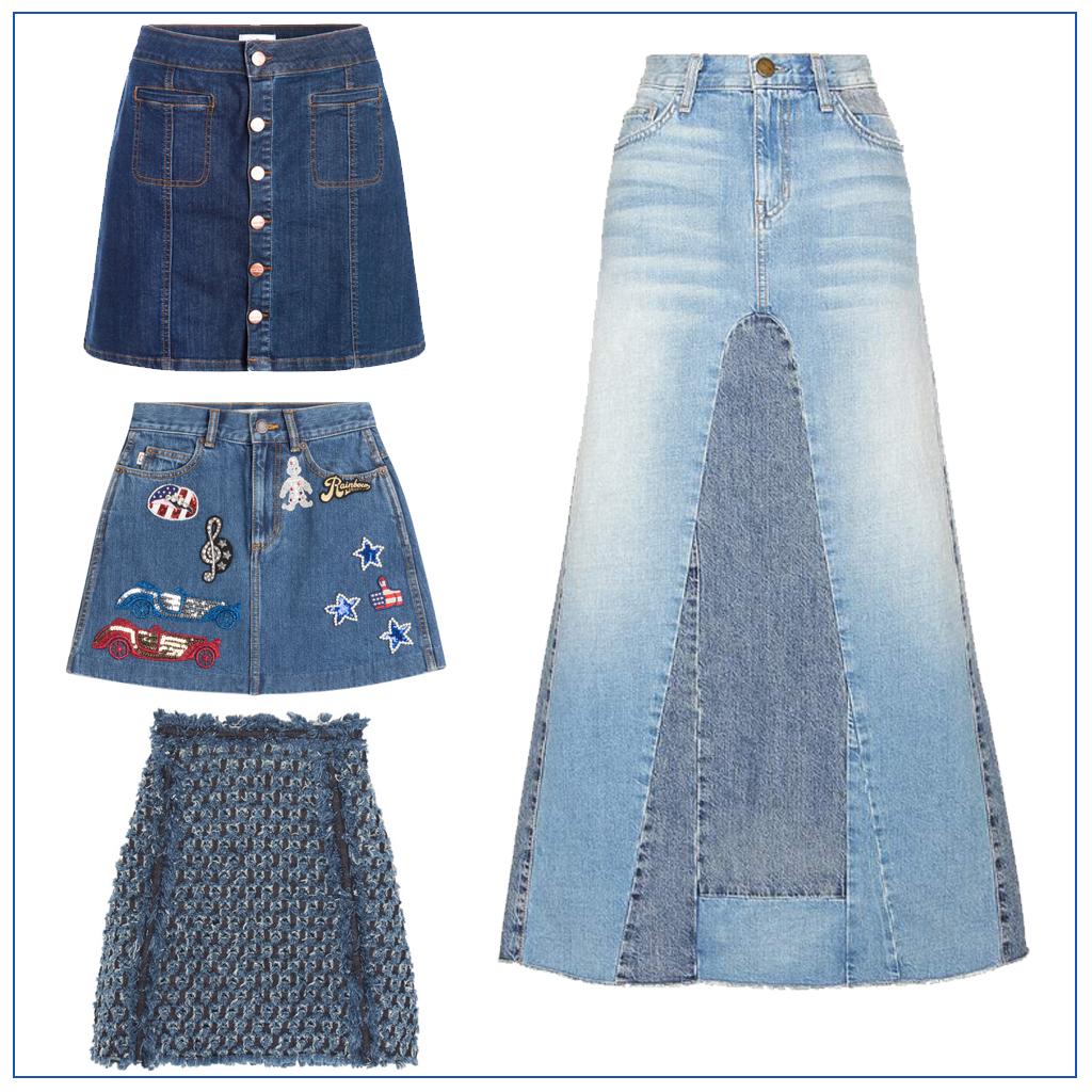 Jupe en jean 20 mod les de jupes en jean pour tre cool tout l t elle - Faire un ourlet de jean ...