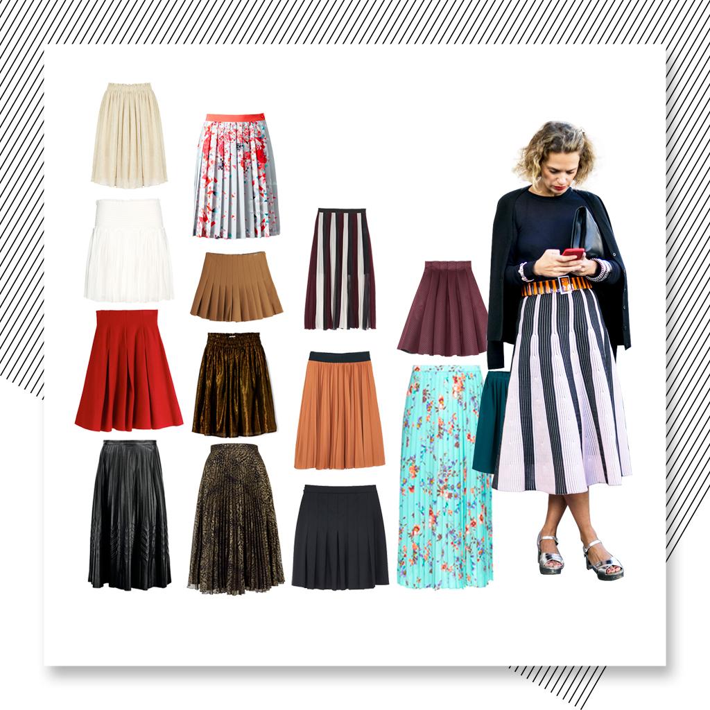 jupe pliss e 20 jupes pliss es automne hiver 2016 elle. Black Bedroom Furniture Sets. Home Design Ideas