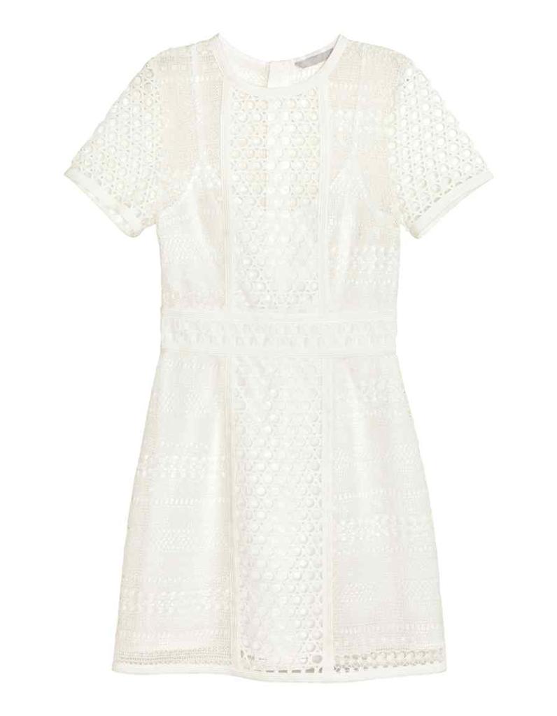 robe blanche h m 2015 la mode des robes de france. Black Bedroom Furniture Sets. Home Design Ideas