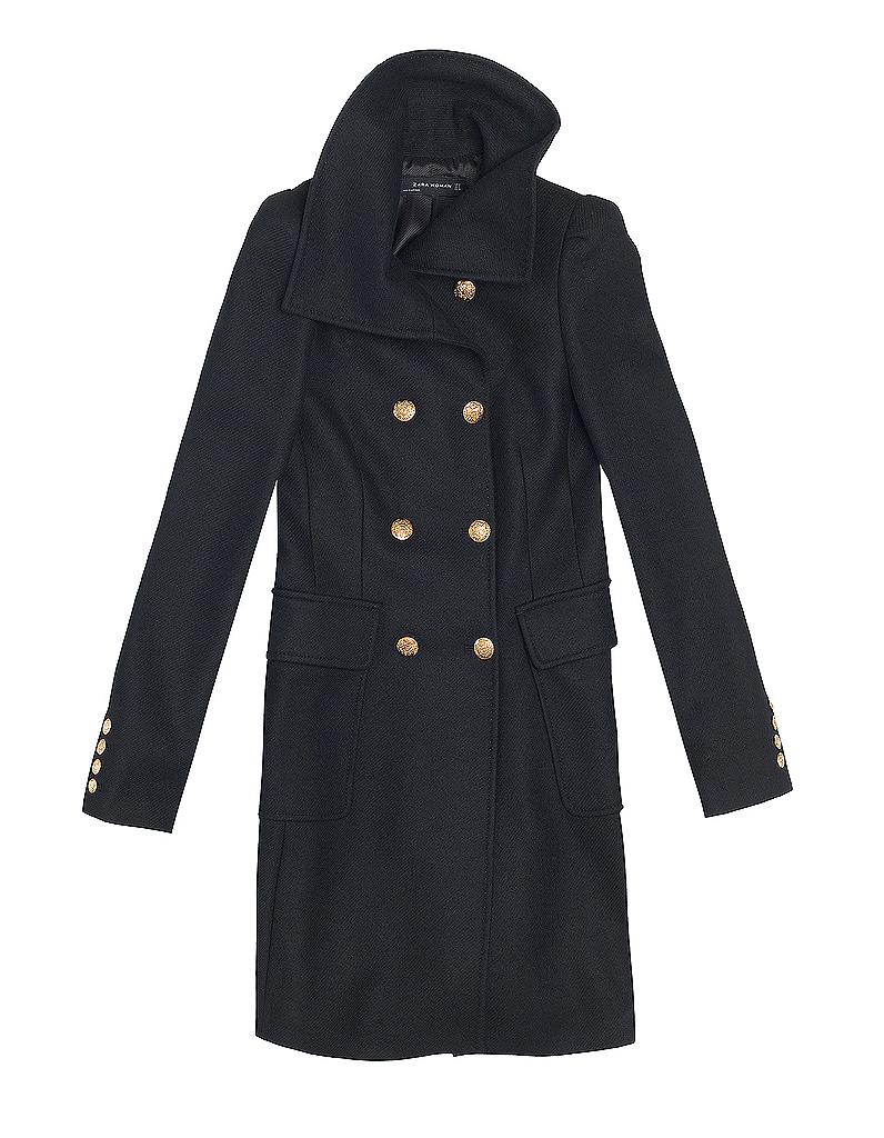manteau zara nouveaux manteaux on les a rep r s elle. Black Bedroom Furniture Sets. Home Design Ideas