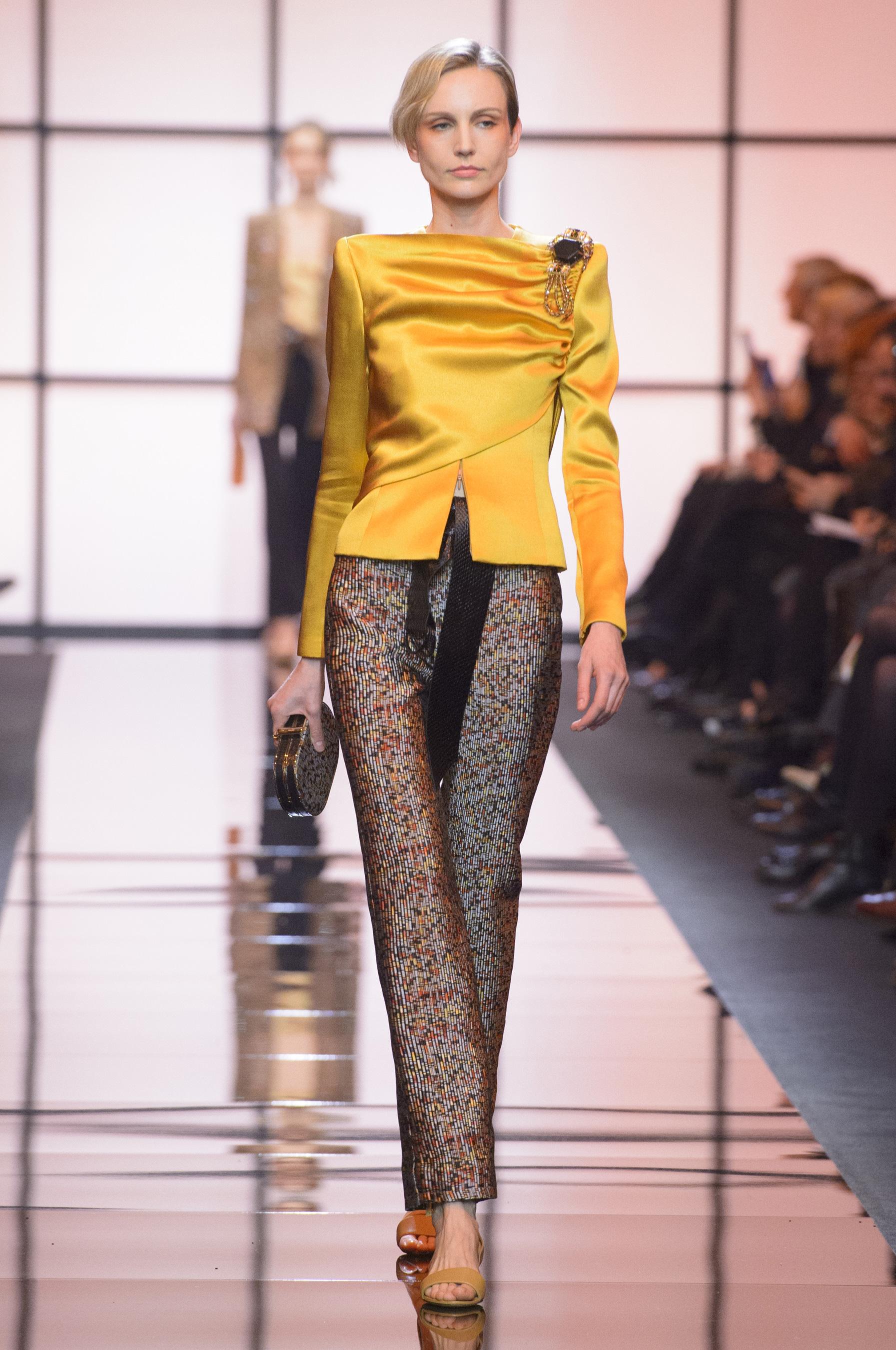 Femme Jeans Deux manteau Mode Armani Long Poches WIe9YbED2H