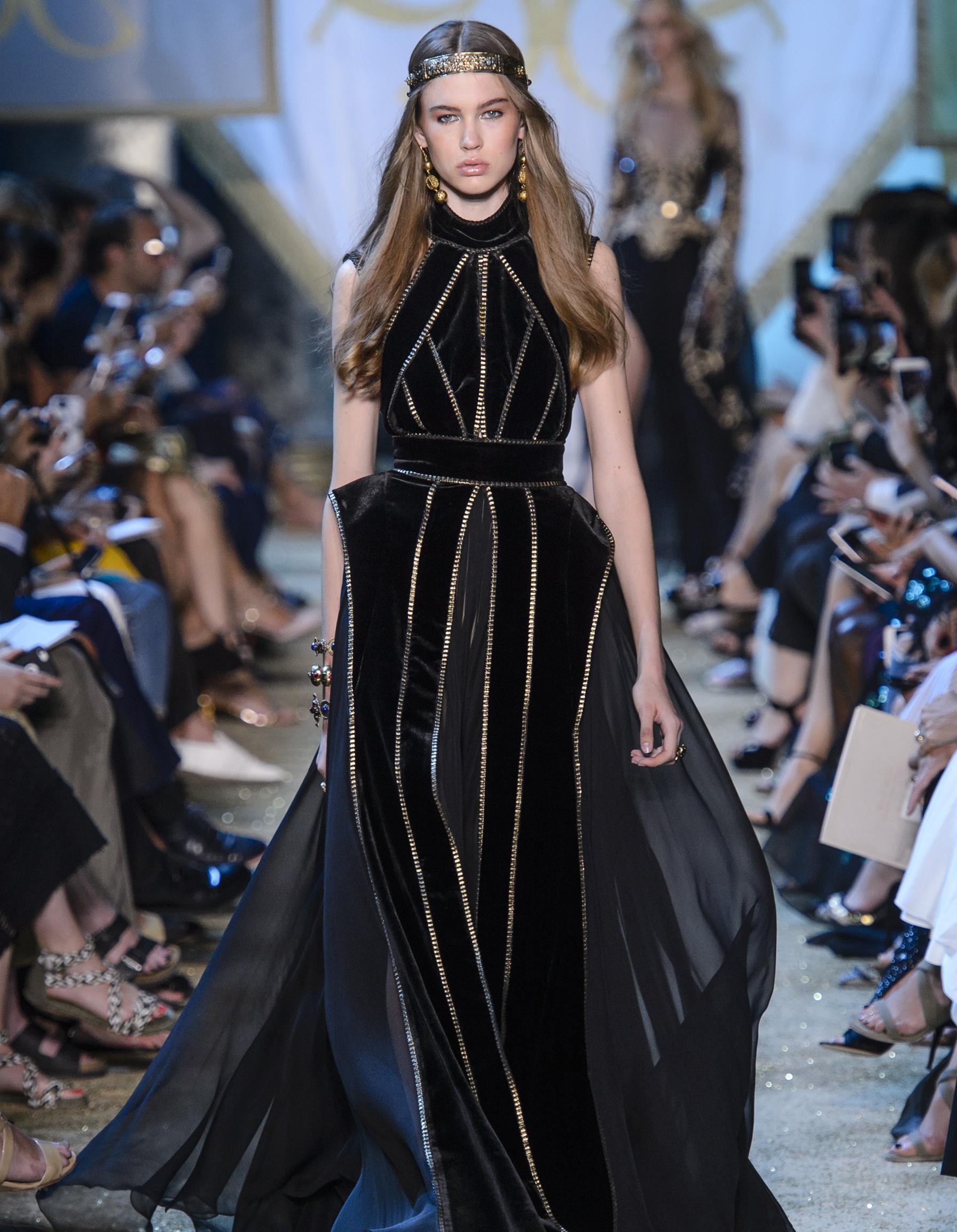 D fil elie saab haute couture automne hiver 2017 2018 - Mode hiver 2018 ...