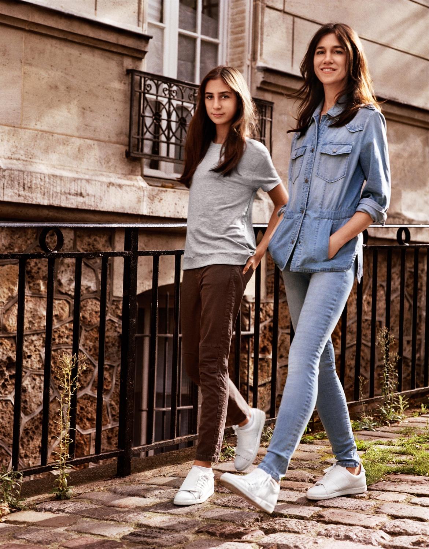 l instant mode charlotte gainsbourg et sa fille alice r unies pour la mode elle. Black Bedroom Furniture Sets. Home Design Ideas