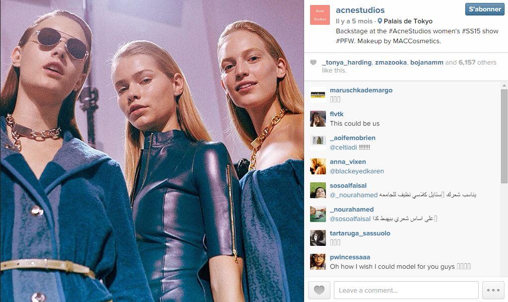 Acne studio les 101 comptes instagram suivre pendant la fashion week elle - Qui suivre sur instagram ...