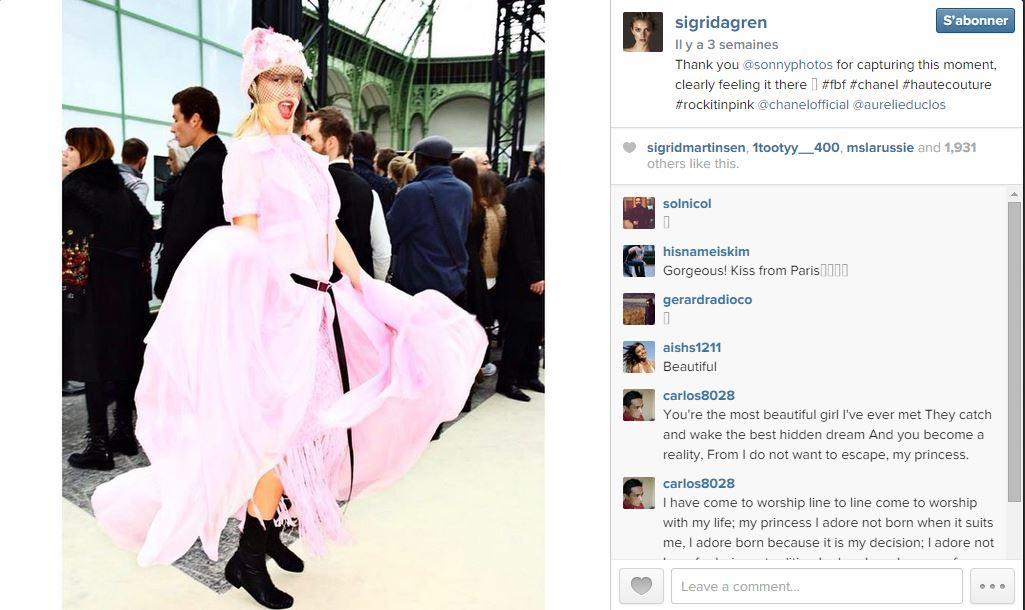 Sigrid agren les 101 comptes instagram suivre pendant la fashion week elle - Qui suivre sur instagram ...