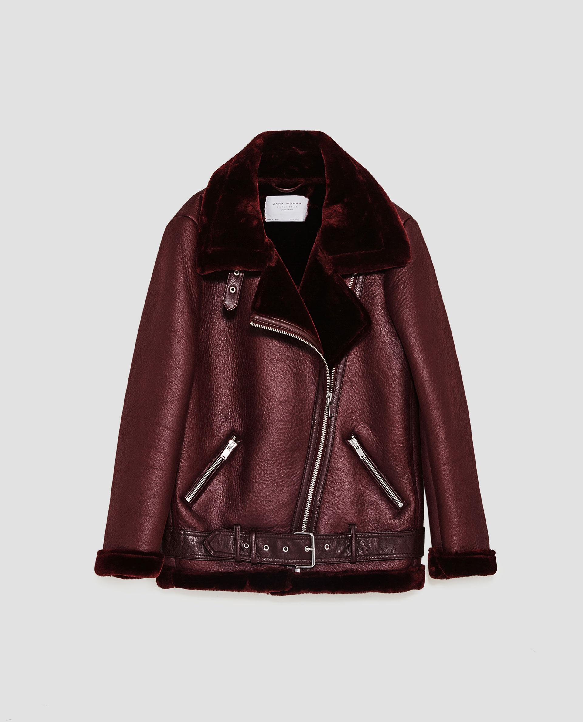 Zara Femme Veste Rouge Cuir Rxy6cqxr En wmOyvnN80