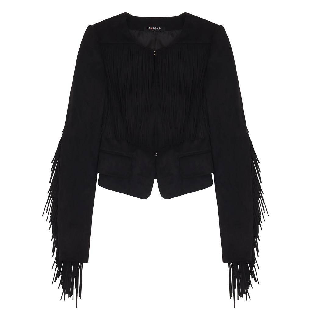 veste franges femme morgan une veste franges pour jouer la cow girl elle. Black Bedroom Furniture Sets. Home Design Ideas