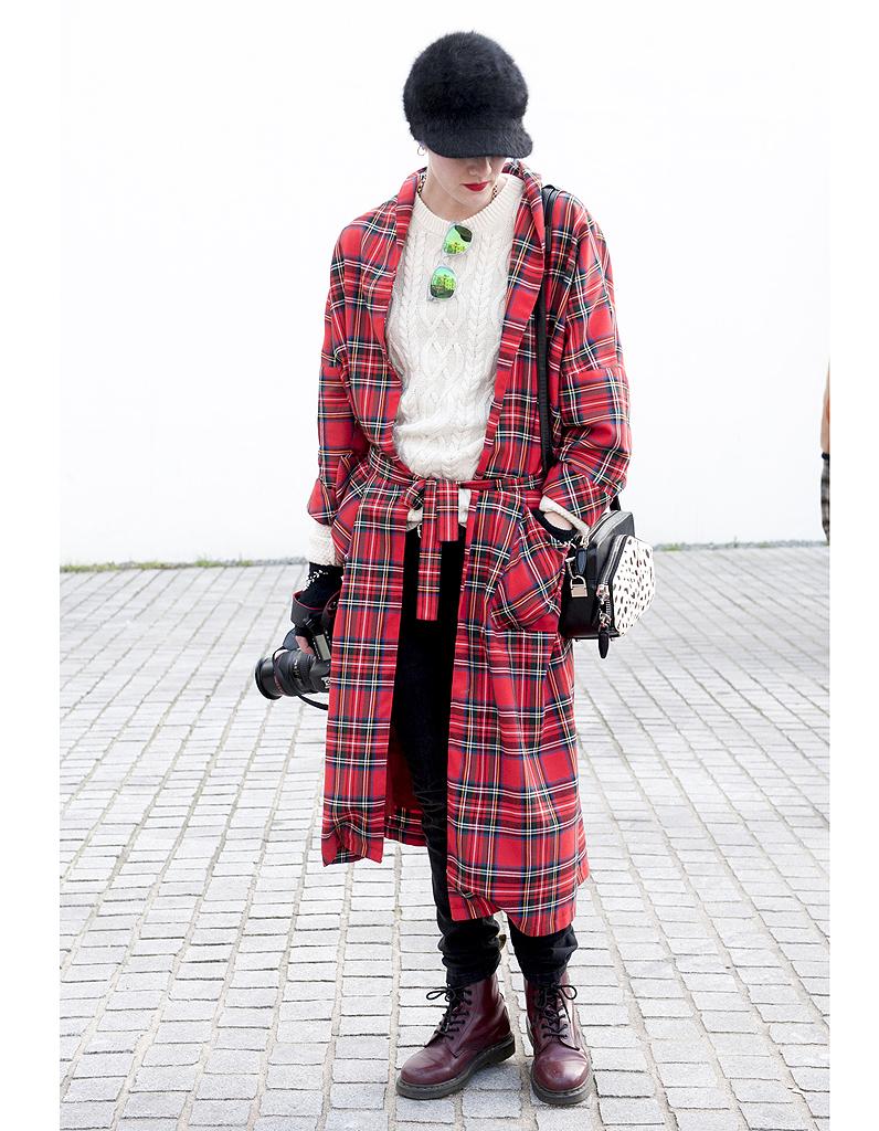Le tartan street style elles portent d j les for Pourquoi ecossais portent kilt