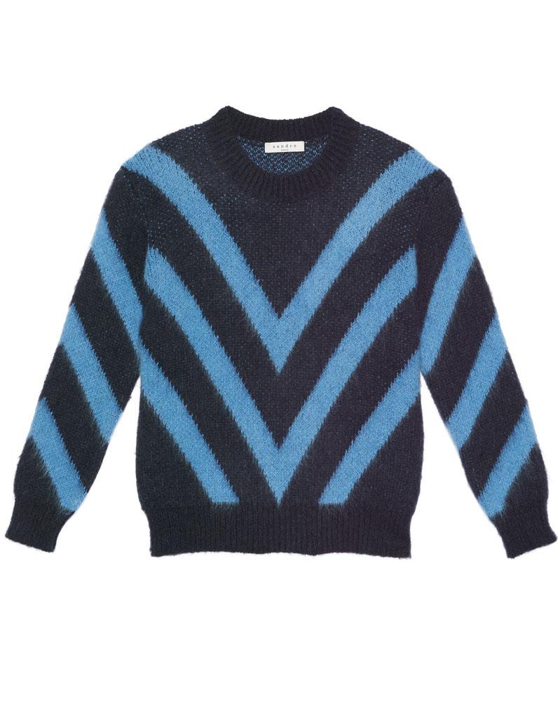 pull en laine mohair sandro 30 pulls en laine pour tre. Black Bedroom Furniture Sets. Home Design Ideas