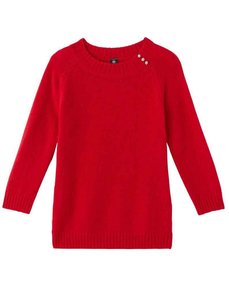 pull en laine rouge un jour ailleurs 30 pulls en laine pour tre au chaud tout l hiver elle. Black Bedroom Furniture Sets. Home Design Ideas