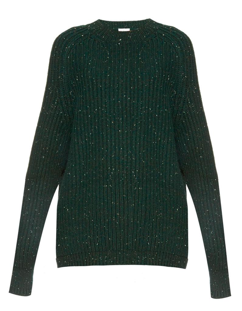 pull en laine vert bouteille raey 30 pulls en laine pour tre au chaud tout l hiver elle. Black Bedroom Furniture Sets. Home Design Ideas