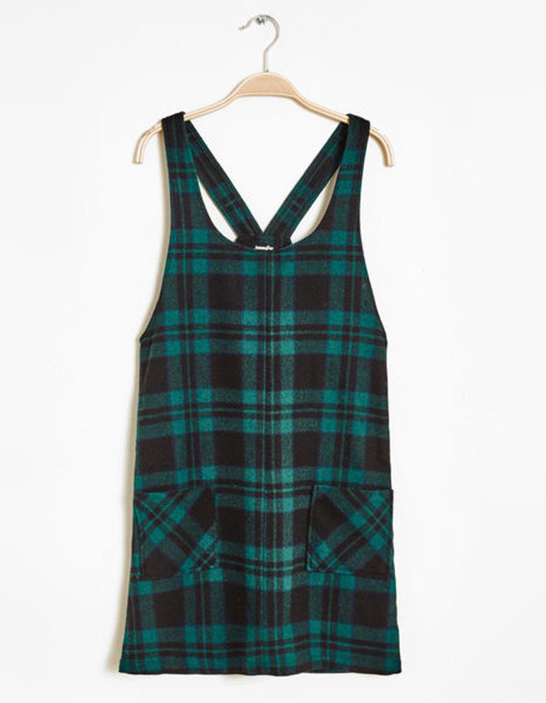 robe chasuble carreaux jennyfer on veut une robe. Black Bedroom Furniture Sets. Home Design Ideas