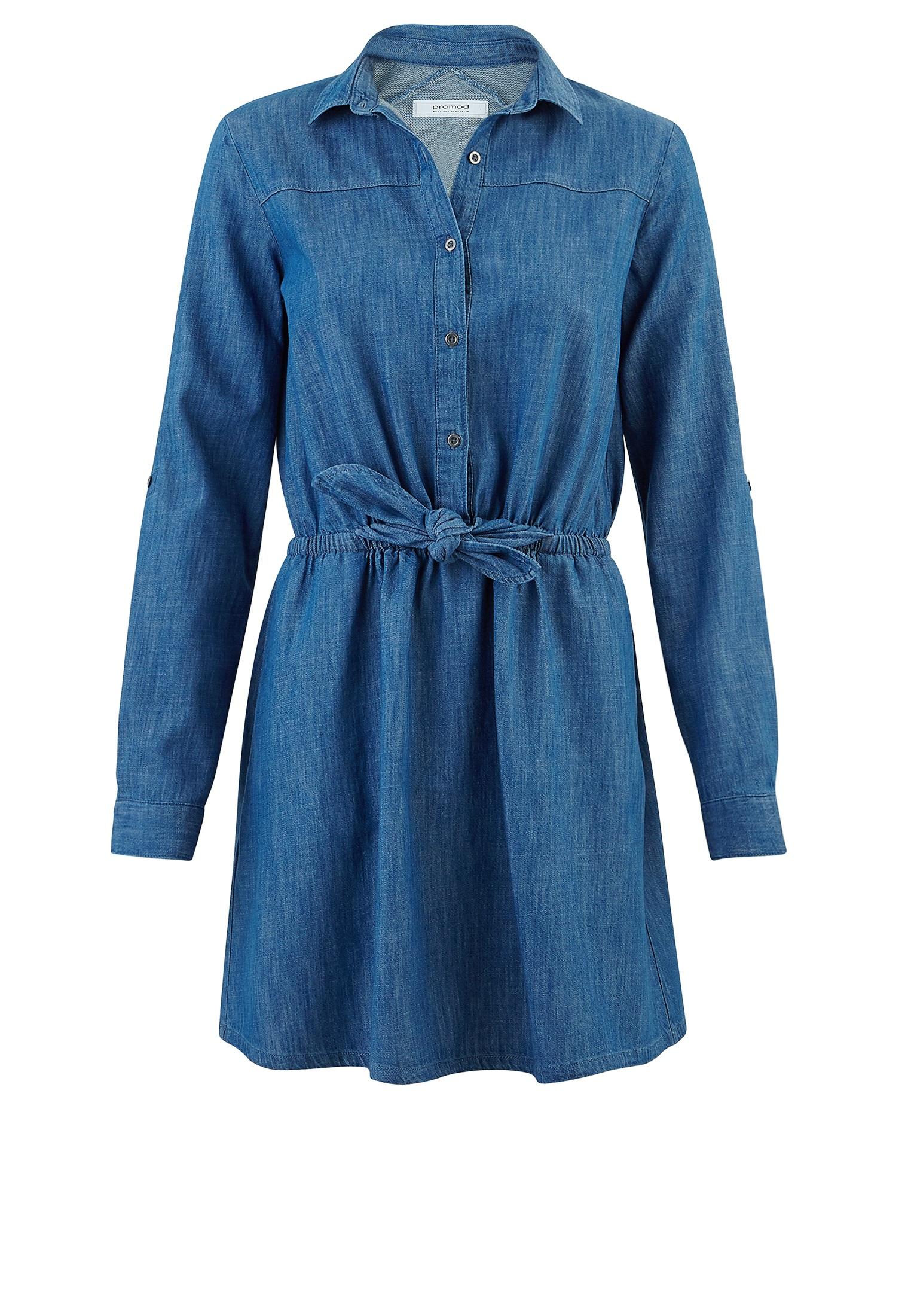 robe en jean promod 20 robes en jean pour tre chic en. Black Bedroom Furniture Sets. Home Design Ideas