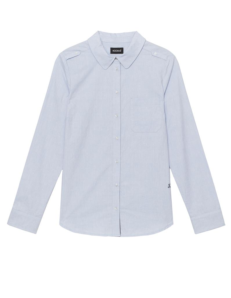 chemise femme bleu ciel 21 chemises pour passer du bureau au resto elle. Black Bedroom Furniture Sets. Home Design Ideas