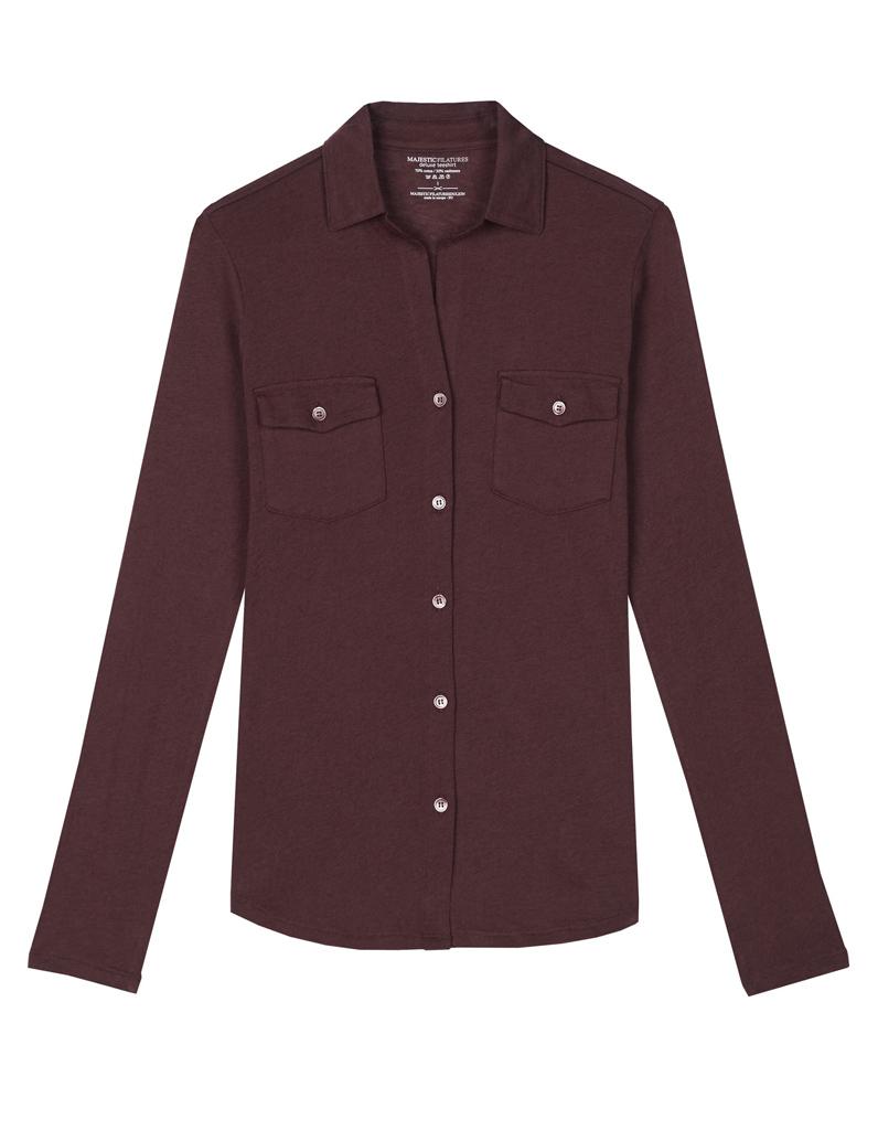 chemise femme bordeaux 21 chemises pour passer du bureau au resto elle. Black Bedroom Furniture Sets. Home Design Ideas