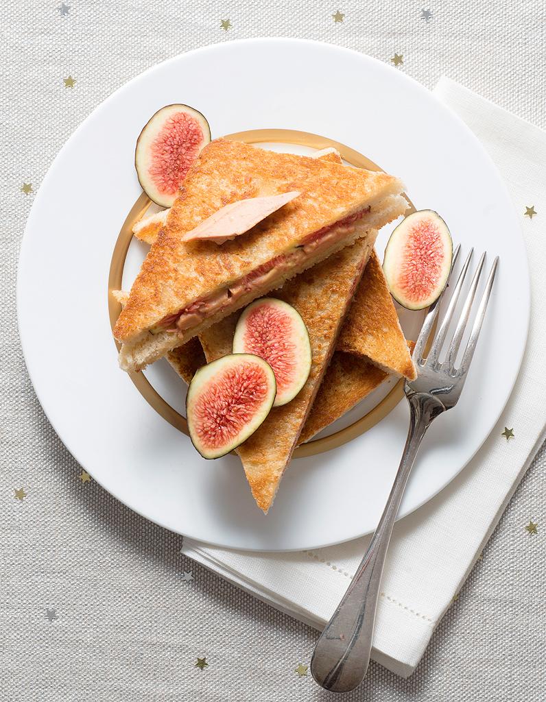 croques foie gras aux figues pour 6 personnes recettes. Black Bedroom Furniture Sets. Home Design Ideas