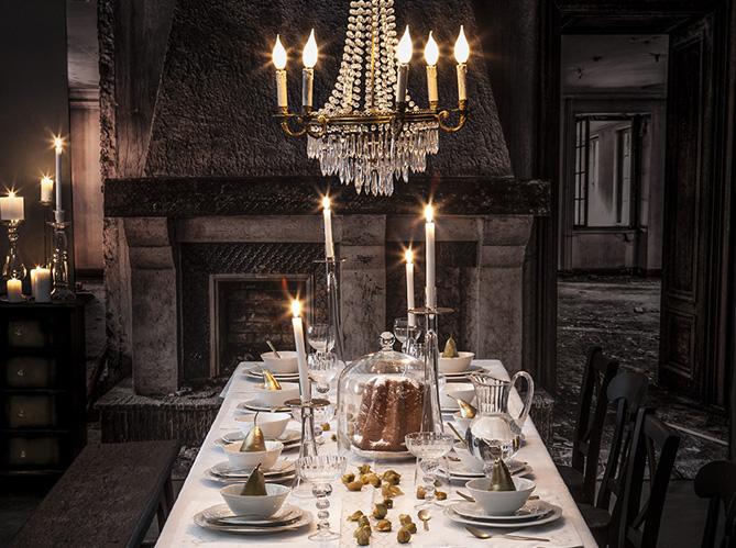 40 jolies tables de f te elle - Table de fete decoration noel ...