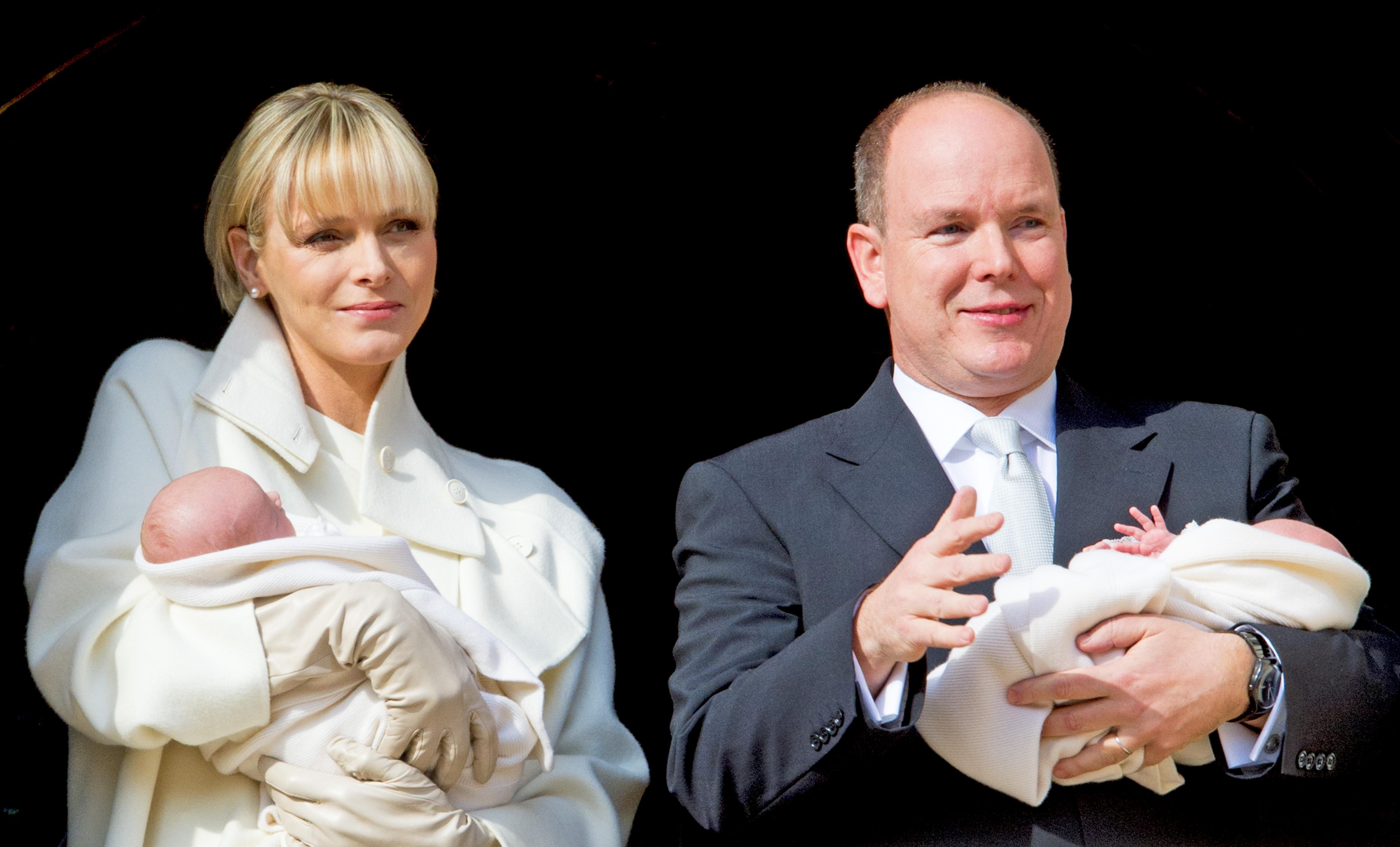 charl ne et albert de monaco ces couples de stars qui ont eu des jumeaux elle. Black Bedroom Furniture Sets. Home Design Ideas