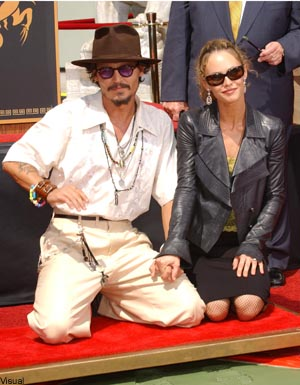 johnny depp et vanessa paradis le couple le mieux assorti elle. Black Bedroom Furniture Sets. Home Design Ideas